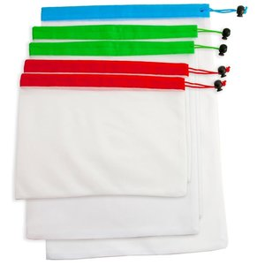 KITCHENBASICS Produce Bags/ Set of 5 -Assorted Nylon