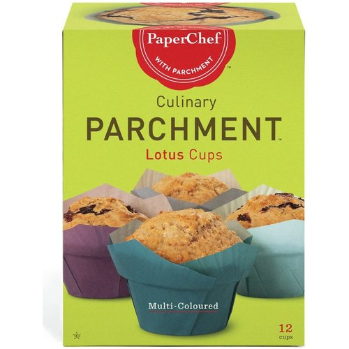 PaperChef PARCHMENT NATURAL muffin papers Multi-Coloured Lotus Shape 12 PCS