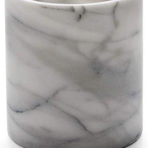 RSVP MARBLE WINE COOLER & UTENSIL HOLDER White/Grey