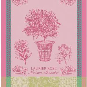 Garnier Thiebaut Garnier Thiebaut Tea Towel Laurier en Pot Rose