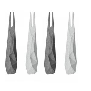KOZIOL Hors d'Oeuvres Fork KOZIOL Deep & Soft Grey