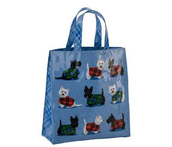 Cosy Scottie & Westie PVC Mini Gusset Bag