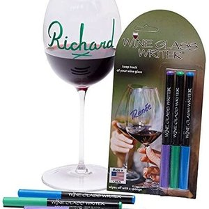 WINE GLASS WRITER INC. WINE GLASS DECORATOR PENS -  - 3 PENS - MADE IN THE USA