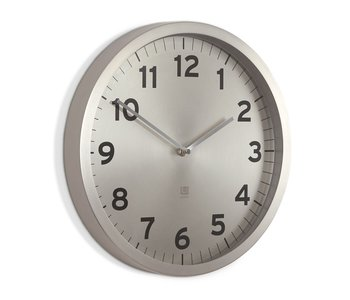 ANYTIME CLOCK 12.5 IN. NICKEL
