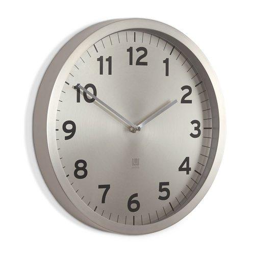 Umbra ANYTIME CLOCK 12.5 IN. NICKEL