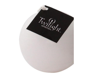 OCD RUSTIC BALL CANDLE 3 - WHITE