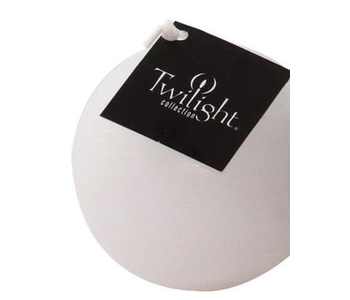 """RUSTIC BALL CANDLE 3"""" - WHITE"""
