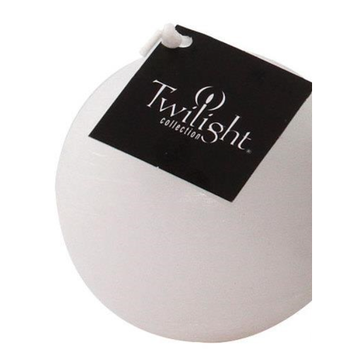 OCD RUSTIC BALL CANDLE 3 ins. - WHITE