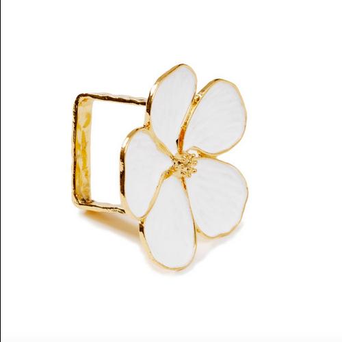 ICM Napkin Ring White Daisy / Set of 4