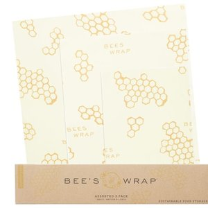 Bee's Wrap BEE-HIVE Honeycomb WRAPS/ SET OF 3