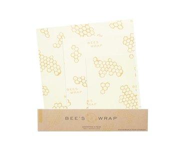BEE-HIVE Honeycomb WRAPS/ SET OF 3