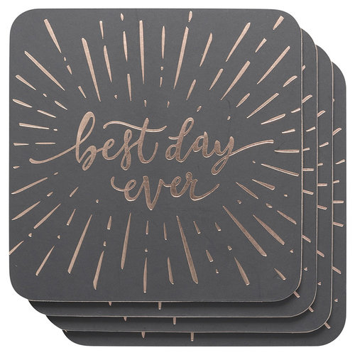 Danica Coaster set of 4 Best Day Ever