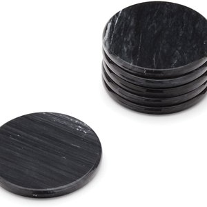 Fox Run Coasters Black Marble/ Set of 6