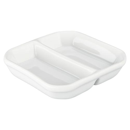 Danesco Divided TIDBIT Dish White