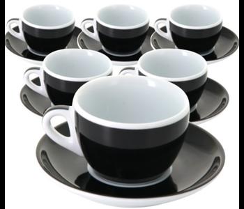 MILLECOLORI Cappuccino cup Torino Black