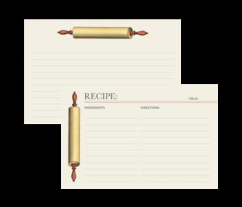 Recipe Card ROLLING PIN