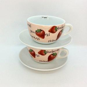 Ancap FRAGOLE Latte Cup Verona w/saucer (Strawberry)