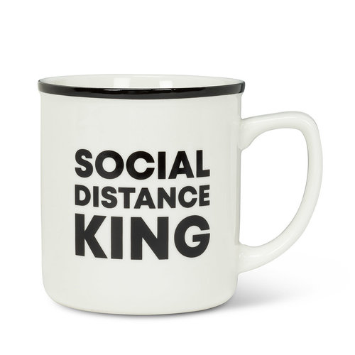 Abbott Mug SOCIAL DISTANCE KING  14oz