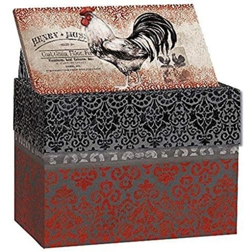 Lang Recipe box CARDINAL ROOSTER