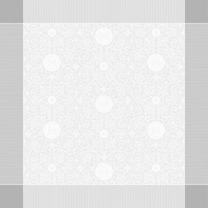 """Garnier Thiebaut TABLECLOTH Apolline White 69"""" x 143""""  (GREEN SWEET)"""