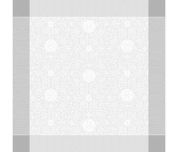 """TABLECLOTH Apolline White 69"""" x 143""""  (GREEN SWEET)"""