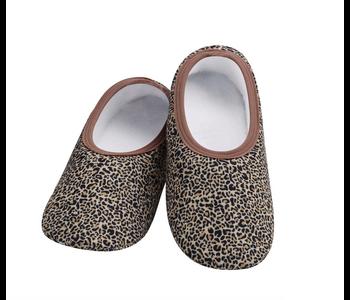 Snoozies Slippers Leopard Medium