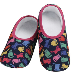 Snoozies Snoozies Slippers Cats Colourful Medium