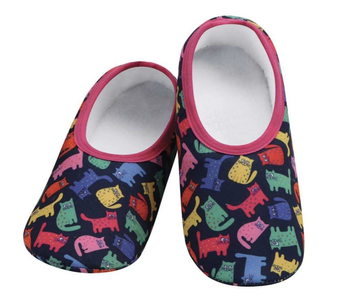 Snoozies Slippers Cats Colourful Large