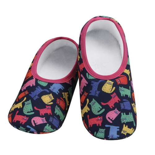 Snoozies Snoozies Slippers Cats Colourful Extra Large