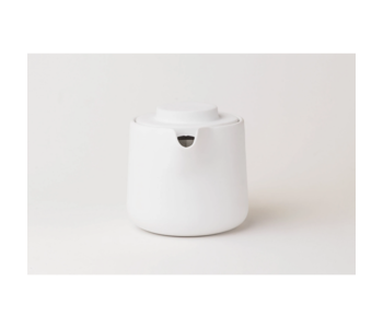 Two-in-One Drip Coffee & Teapot classic white