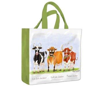 Cheddar Cows PVC Mini Gusset Bag