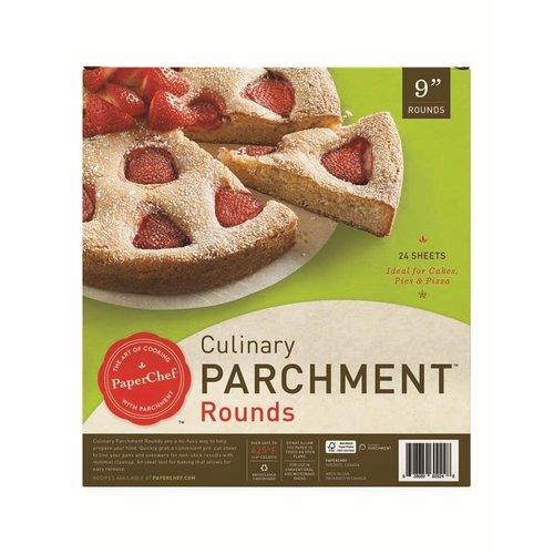 """PaperChef Parchment Pre-Cut 9"""" Rounds PaperChef"""