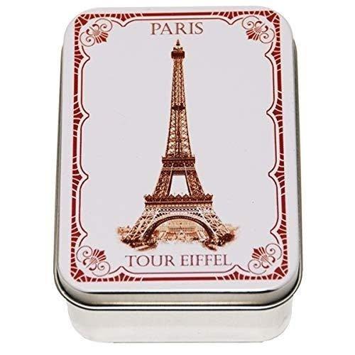Savon LeBlanc Soap Metal Tin Tour Eiffel Rose