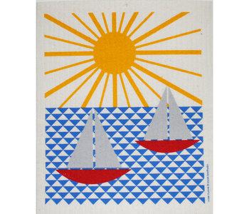 Swedish Dishcloth Sailboats