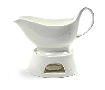 Porcelain Gravy boat with warmer 400ml