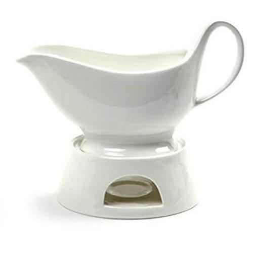 Maison Plus Porcelain Gravy boat with warmer 400ml