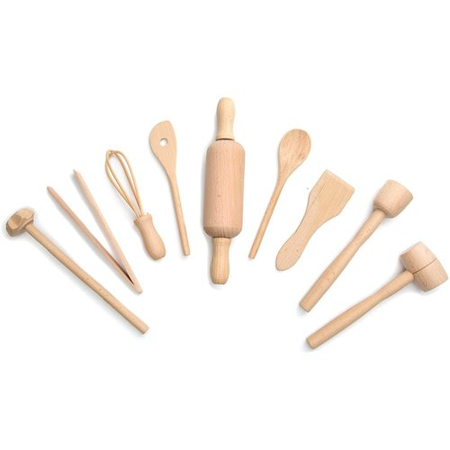 Fox Run Kid's 9 pc. Wood Baking Set