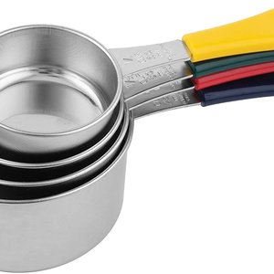 Fox Run Measuring Cups - Coloured Handle/ Set of 4
