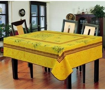 """Table cloth Poly 58""""X78"""" Grass Yellow"""