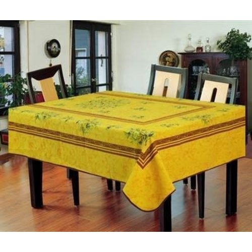 """Texstyles Deco Table cloth Poly 58""""X78"""" Grass Yellow"""