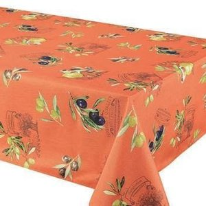 "Texstyles Deco Tablecloth Poly 58""X78"" Primo Orange"