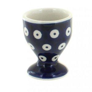 K and U Import POLKA DOT EGG CUP Polish Pottery