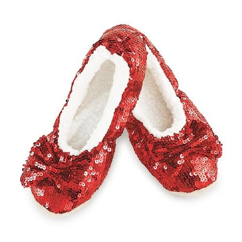 Snoozies Snoozie Slippers Ruby Red Large