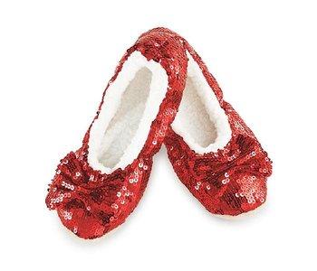 Snoozie Slippers Ruby Red Medium