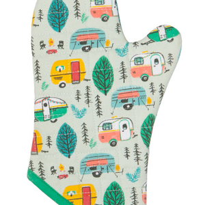 Now Designs Mitts Classic Patterned Happy Camper