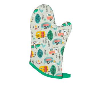 Mitts Classic Patterned Happy Camper