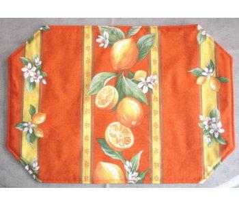 PLACEMAT Orange Blossom . 100% Cotton