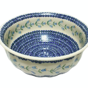 K and U Import Bowl Salad Scalloped 29.5 cm Trailing Lily