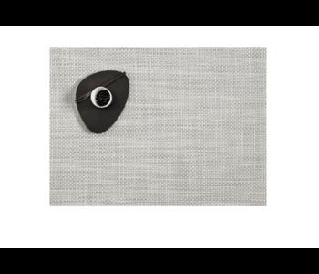 Placemat Basketweave White/Silver