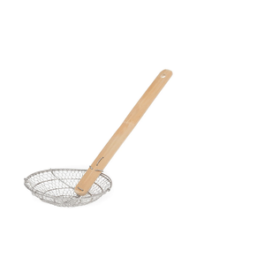 Catering Line Skimmer / Spider 4 inches Stainless Steel with Bamboo